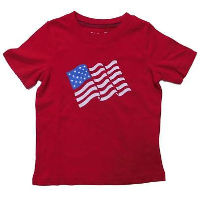 Infant Boys Red Patriotic 4th of July T-Shirt American Flag Tee 12m