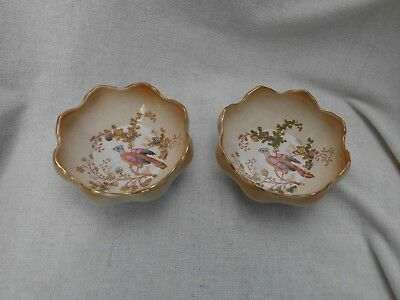 Crown Ducal Ware 'avis' Bird Of Paradise ~ 2 Two Bowls ~ Agr & Co Richardson