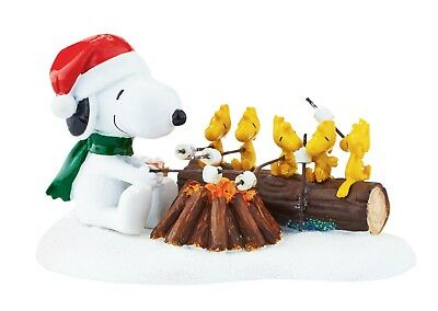DEPARTMENT DEPT 56 Figurine PEANUTS SNOOPY Dog Statue CAMPFIRE BBQ MARSHMALLOW