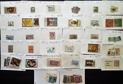 COLLECTION OF MIDDLE EAST STAMPS IDd IN 102 CARDS @ $150 VALUE