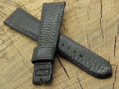 NOS Vintage Accutron Watch Band Black Genuine Leather Unused 20mm No Buckle