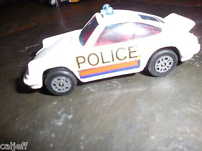 Vintage 1973 Corgi Juniors Gt Britain Diecast Toy Porsche Carrera Police Car