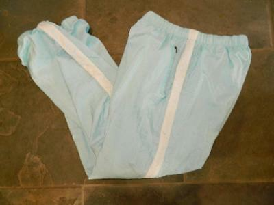 Vintage 1980s Crinkly Shiny Nylon Shell Suit Trousers unisex sportswear M