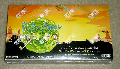2018 Cryptozoic Rick and Morty Season 1 trading cards sealed hobby box 24 packs