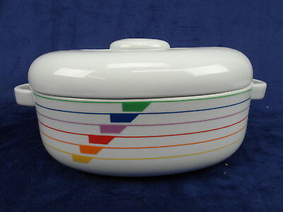 Block Harmony Sextet Jack Prince Oval Covered Casserole Portugal Rainbow