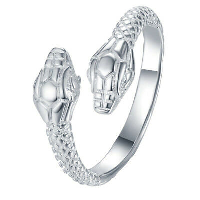 925 Solid Sterling Silver Plated Women/Men Fashion SNAKE Ring Gift SIZE OPEN NEW
