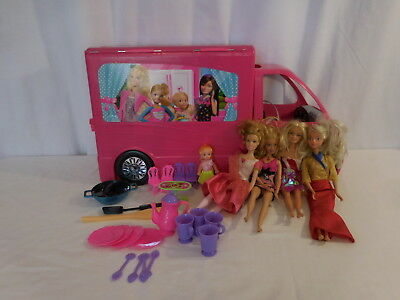 Barbie Sisters Mobile Home Deluxe Camper RV Vehicle Playset + Accessories 2012