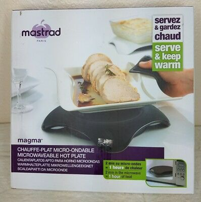 Mastrad Magma Hot Plate - Microwavable Silicone Hot Plate - Warming Plate
