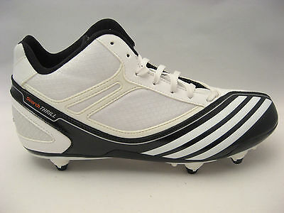 346346025 NEW Mens adidas Football Cleats 8.5 Scorch Thrill Mid D White Black Shoes   99