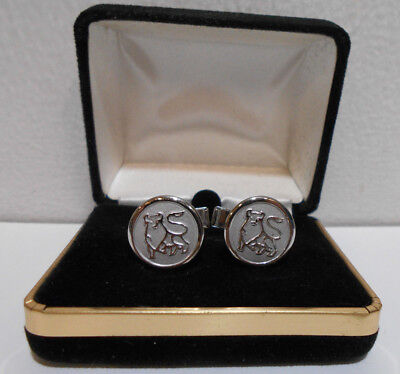 Set of MERRILL LYNCH BULL Cufflinks Silver-Tone
