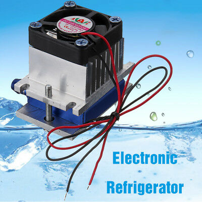 12V Thermoelectric Peltier Refrigeration Cooling System Kit Cooler Fan Motor DIY