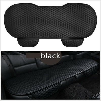 Black PU Leather Car SUV Seat Cushion Stay On Seats Non-Slide Auto Covers Pads