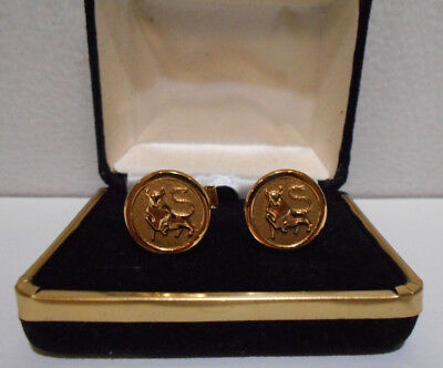 Set of MERRILL LYNCH BULL Cufflinks Gold-tone #2