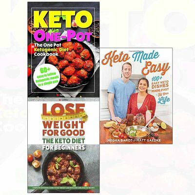 Keto Made Easy,One Pot Ketogenic Diet Cookbook,Lose Weight 3 Books Collection PB