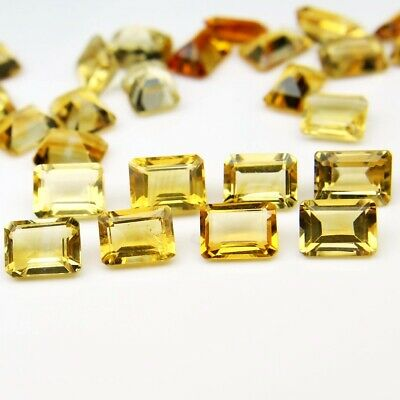 Wholesale Lot of 9x7mm Emerald Cut Natural Citrine Loose Calibrated Gemstone