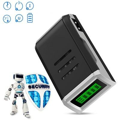 LCD 4 Slots Smart Battery Charger For AA/AAA NiMh NiCd Rechargeable Batteries EU