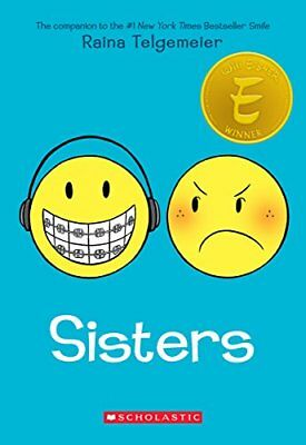 Sisters by Telgemeier  New 9780545540605 Fast Free Shipping..