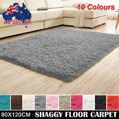 New Solid Designer Shag Shaggy Floor Confetti Rug Carpet ALL SIZE Free Delivery
