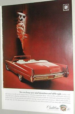 1970 CADILLAC advertisement, Cadillac Coupe deVille convertible
