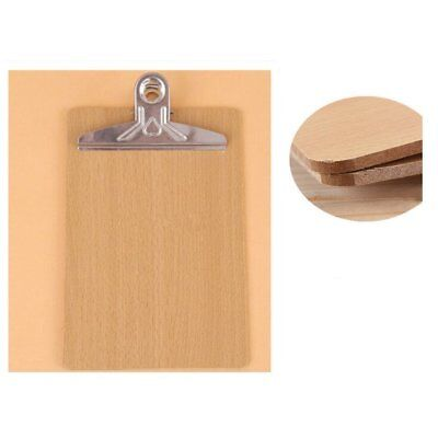 3x A4 Hard Board Clipboard Heavy Duty Metal Clip Wood Wooden Hanging Office Menu