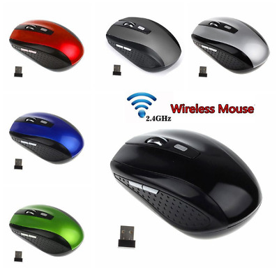 2.4GHz Portable Wireless Mouse Cordless Optical Game Mice With USB Receiver Nice