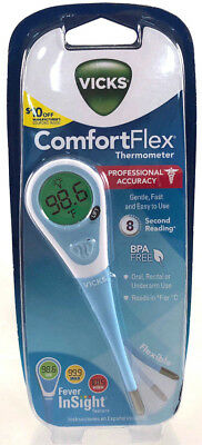 Vicks Comfort Flex Thermometer New & Sealed For Oral Rectal Or Underarm Use
