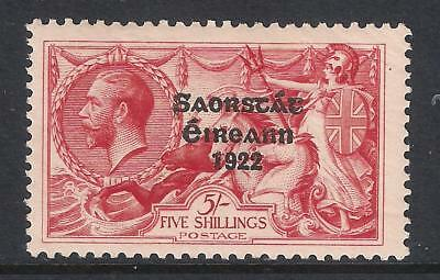 Ireland Eire stamp - 1925 KGV 5/-  Narrow Date Overprint, SG84, MM (2 scans)