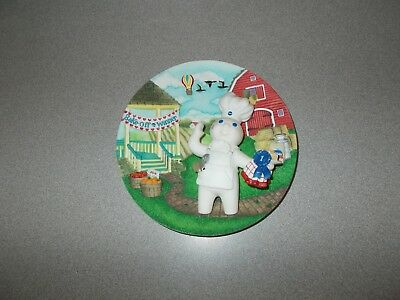 Danbury Mint numbered 1999 Kiss-Me Cake Pillsbury Doughboy collector plate