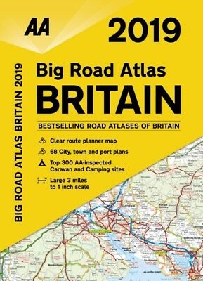 AA 2019 Big Road Atlas Britain by AA Publishing Spiral bound 9780749579517