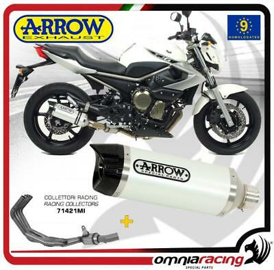 Arrow Terminale Scarico Completo Thunder Allu Bianco Yamaha XJ6/Diversion 2011