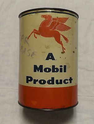 Vintage Mobile Pegasus Grease 5 Pound Can Mobilgrease No 5 Part Full