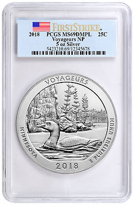 2018 Voyageurs 5 oz. Silver ATB America Beautiful PCGS MS69 DMPL FS SKU49875