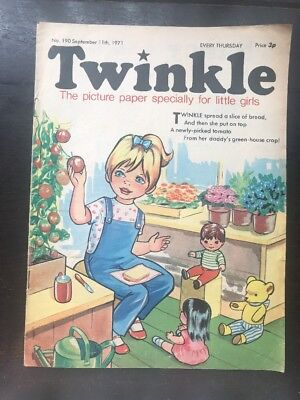 Twinkle  Comic No. 190. 11 Sept 1971. Excellent Condition Vfn. Puzzles Not Done.