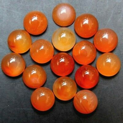 Lot of 3.5mm, 4mm & 11mm Round Cabochon Natural Loose Calibrated Carnelian Gems