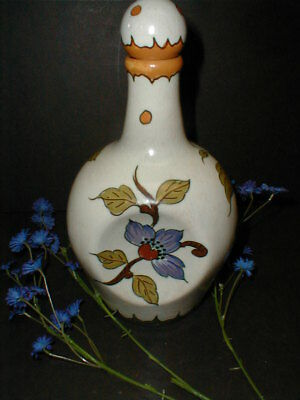 Gouda Pottery Holland Dutch Musical Wine Liquor Decanter w Pinched Body