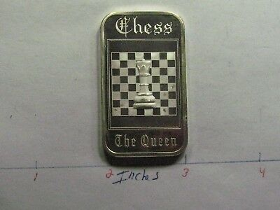 The Queen Chess Piece 1975 Madison Mint 999 Silver Bar Rare Only Few On Ebay #D