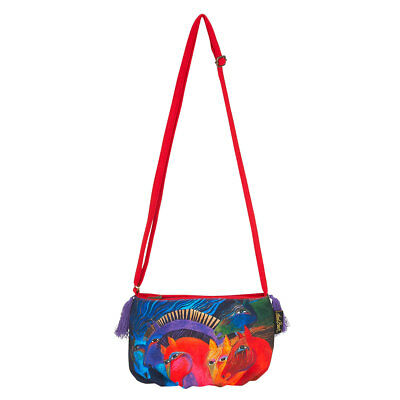 New LAUREL BURCH Crossbody Bag RAINBOW PONY HORSE Shoulder Purse Tassel Charm