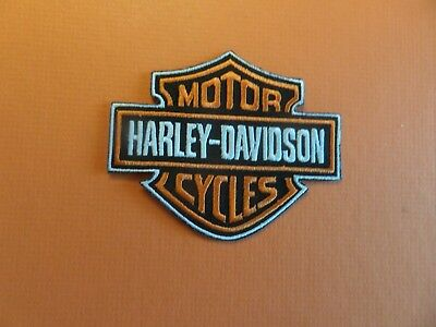 HARLEY-DAVIDSON MOTORCYCLE  Embroidered 2-3/4 x 3-5/8 Iron On Patch