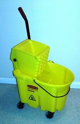 Rubbermaid Commercial Wave Break Combo With Mop Ringer Brand New #90-7680-A1