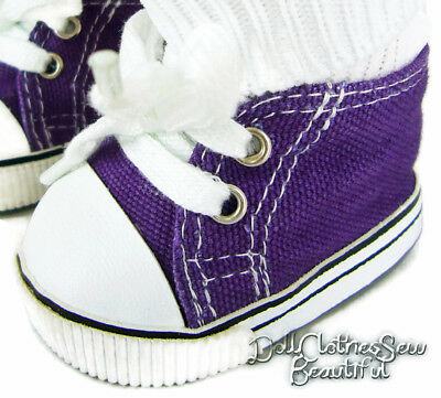 For Bitty Baby Purple Canvas Sneakers Gym Shoes Doll Clothes Accessories