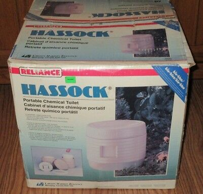 Reliance Hassock Portable Toilet Potty Camping Boating Never Used