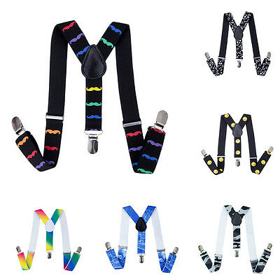 Baby Toddler Children Kids Boys Wedding Elastic Y-Back Suspenders Braces Clip on