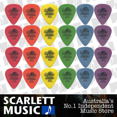 24 X Jim Dunlop Tortex Standard MIXED Guitar Picks Starter Set *BRAND NEW*