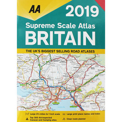 AA Supreme Scale Atlas Britain 2019 by AA (Paperback), Non Fiction Books, New