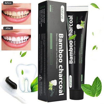 120g Whitening Toothpaste Bamboo Charcoal Teeth Care Black Removes Stains Hot
