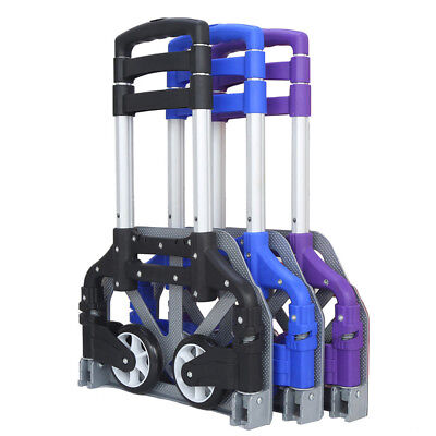 Hand Trolley Cart Folding Truck  Push Collapsible Luggage Aluminium 170 LBS D3