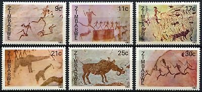 Zimbabwe 1982 SG#610-615 Rock Paintings MNH Set #D75424