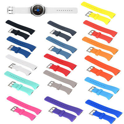 Classic Rubber Silicone Watch Band Strap for Samsung Galaxy Gear S2 R720 R730