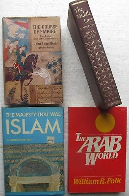 4 Books: Arab World, Middle East, The Course of Empire, Majesty That Was Islam