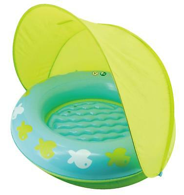 Splosh Baby/Toddler Inflatable Jumbo Ring Sun Shade Paddling Pool + Canopy Tent